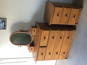 Timber Chest of Draws with Mirror and matching bedside draws